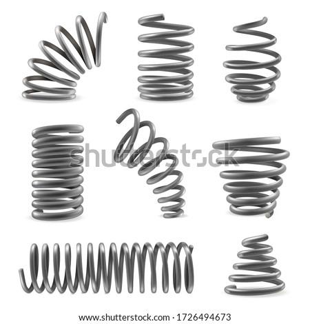 металл · весны · три · группа · промышленных · стали - Сток-фото © designsstock