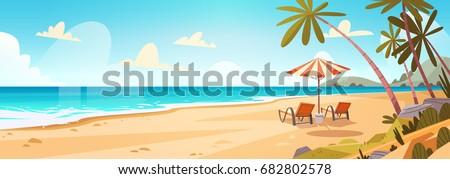 Verão praia água nuvens natureza paisagem Foto stock © prg0383