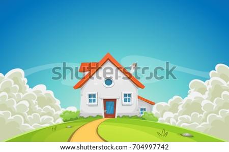 Cartoon House Stock photo © benchart