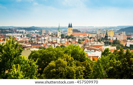 Stock photo: City of Nitra from Above