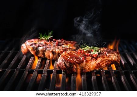 厳しい尋問 肉 屋外 バーベキューグリル 食品 パーティ ストックフォト © brm1949