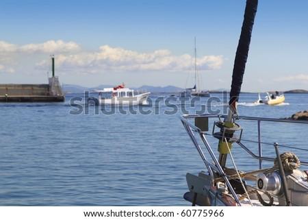 kikötő · fő- · bejárat · szigetek · Spanyolország · nyár - stock fotó © lunamarina