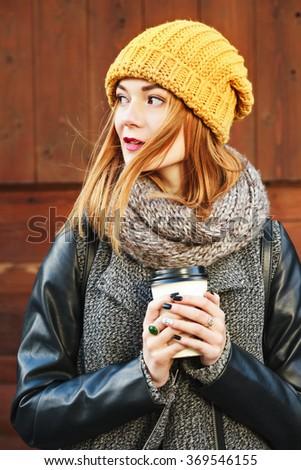 high · fashion · portre · genç · zarif · kadın · gri - stok fotoğraf © deandrobot