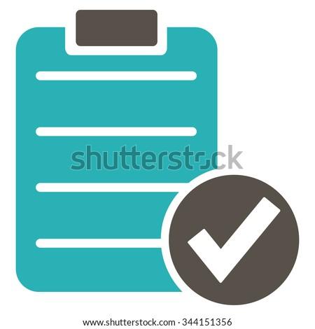 Examination flat gray color rounded glyph icon stock photo © ahasoft