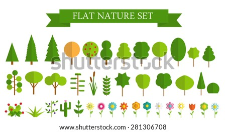 verano · árbol · verde · ornamento · hierba · hoja - foto stock © colematt