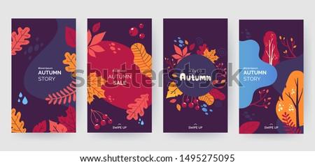 An Autumn template Stock photo © colematt