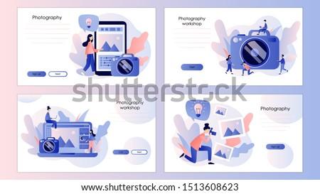 Fotoğrafçılık atölye iniş sayfa Öğrenciler Stok fotoğraf © RAStudio