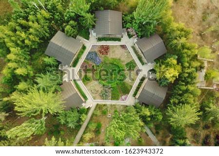 Légifelvétel kert illusztráció természet terv levél Stock fotó © bluering