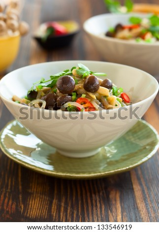 Bowl of Asian food with konnyaku Stock photo © Alex9500