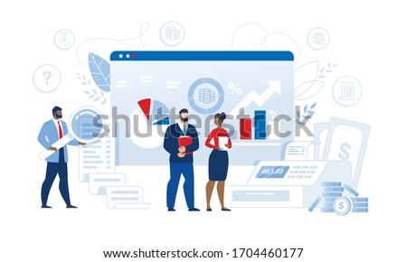 Homme financière travaux affaires facture Photo stock © AndreyPopov
