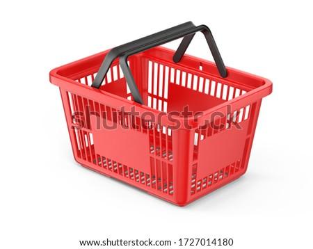 shopping basket isolated icon Stock photo © yupiramos