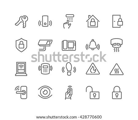 Otthon megfigyelés ikon vektor skicc illusztráció Stock fotó © pikepicture