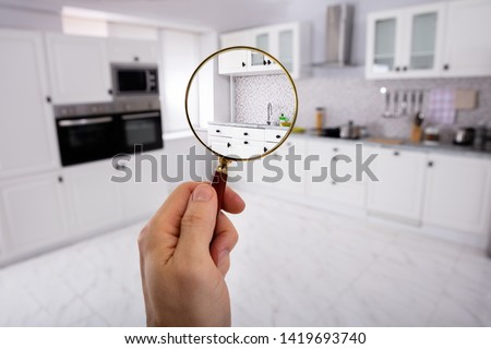 Otthon vizsgálat ház értékbecslés nagyító iroda Stock fotó © AndreyPopov