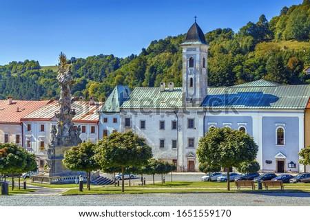 Church Of St Francis Kremnica Slovakia Stockfoto © Borisb17