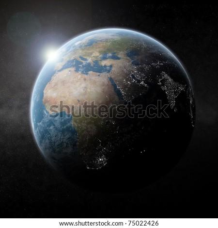 Globe With On A Dark Background Asia And Australia Stock photo © sdecoret
