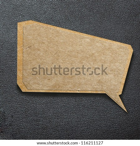 Stitched green recycled paper Stock photo © homydesign