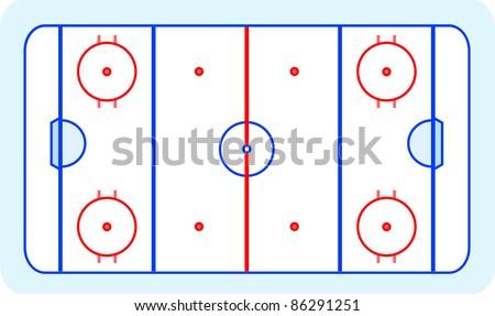 Ice Hockey Field On Blue Greetings Card - Sports Background Stock fotó © fotoscool