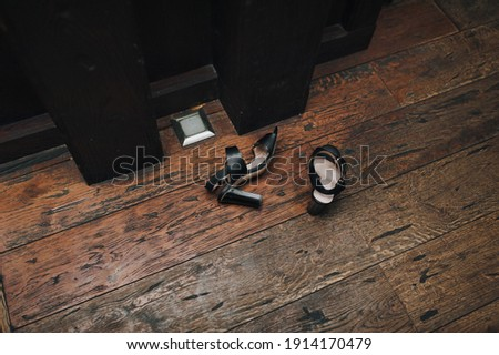 Beautiful brown stilettos on the dance floor Stock photo © 3523studio