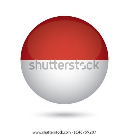 стекла · кнопки · флаг · Индонезия · красный · лук - Сток-фото © maxmitzu
