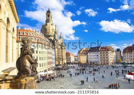 historic window in Dresden Stock photo © prill