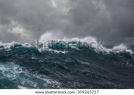 Okyanus fırtına plaj gökyüzü su doğa Stok fotoğraf © Nejron