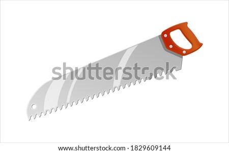 Hacksaw with the orange handle isolated on white background Stock photo © leonido