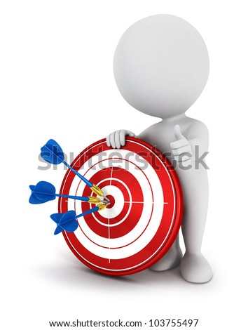 3d White People In Red Target Success In Business ストックフォト © 3dmask