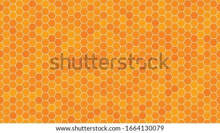 Vector Seamless Background Backdrop Empty Honeycomb Stok fotoğraf © ALMAGAMI