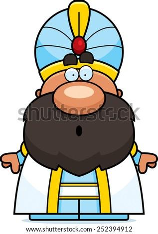 Surprised Cartoon Sultan Stock photo © cthoman