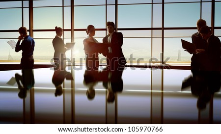 ビジネス · センター · 建設 · デザイン · ガラス - ストックフォト © pressmaster