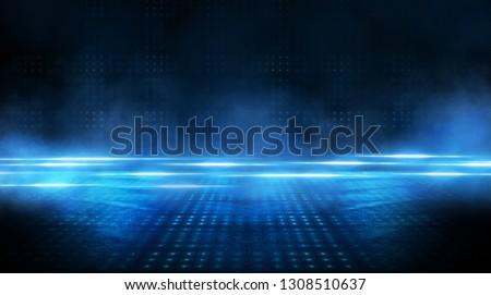 Fény padló buli terv kék színpad Stock fotó © oly5