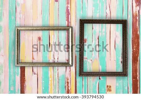 2 · フレーム · 画像 · 縞模様の · 古い · 壁 - ストックフォト © helenstock