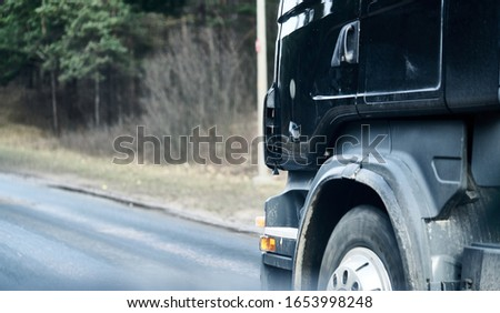biały · ciężarówka · ruchu · autostrady · słoneczny · lata - zdjęcia stock © cla78