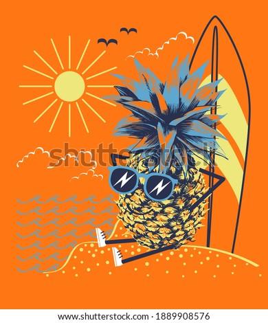 rabisco · padrão · férias · de · verão · férias · ícones · eps - foto stock © netkov1