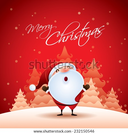 Cute child christmas card, copy space. Stock photo © marimorena