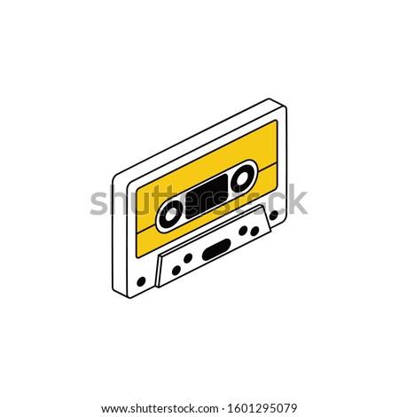 Plástico Áudio cassete ícone isométrica 3D Foto stock © ylivdesign