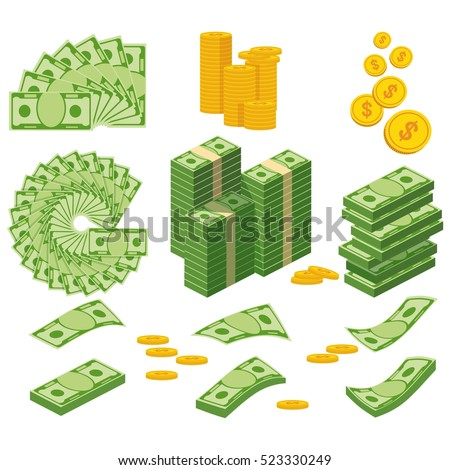 vector set of money cartoon stock photo © olllikeballoon