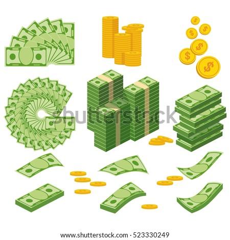 vector set of money cartoon stock fotó © olllikeballoon
