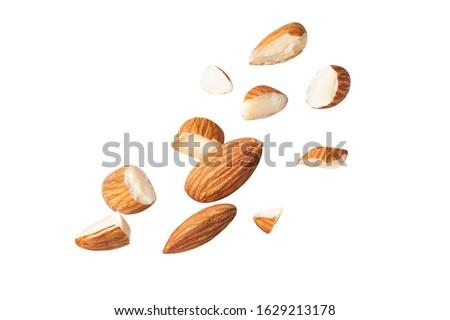 Aprított mandulák egész kicsi darabok étel Stock fotó © bdspn
