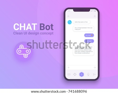 Chat Bot in Mobile Phone Application Robot Vector Stock photo © robuart