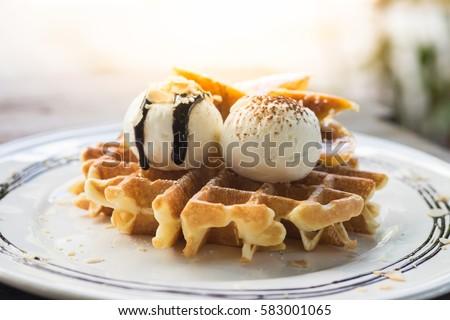 Ice cream in waffle cup Stock photo © BarbaraNeveu