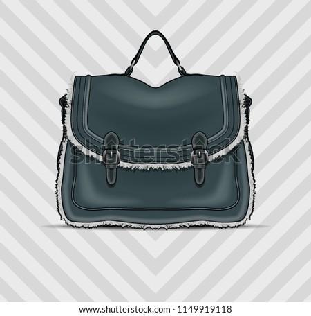 Vektor isoliert Handtasche Design Hand Frauen Stock foto © nickylarson974