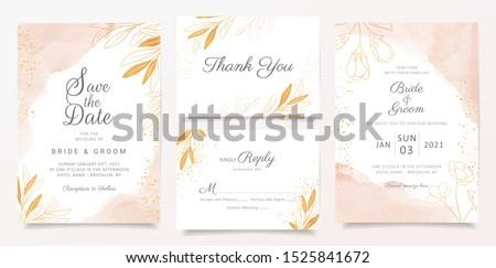 stylish save the date wedding invitation card design Stock photo © SArts