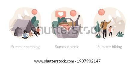 Summer picnic vector concept metaphor Stock photo © RAStudio