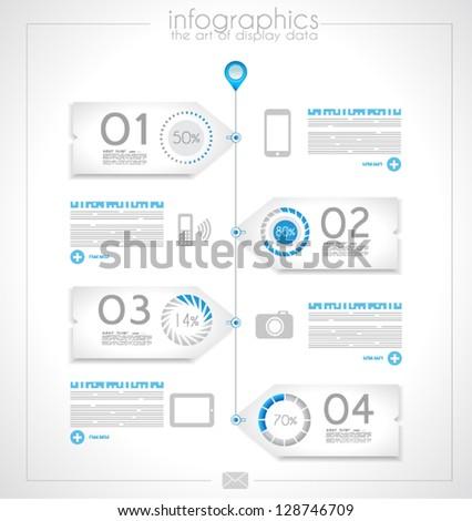 Infografica design prodotto display dati Foto d'archivio © DavidArts