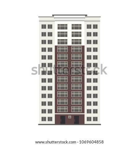 Beautiful multi-storey buildings vector illustrations Stock photo © m_pavlov