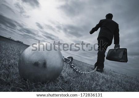 Conceptual image of a businessman  Stock photo © orla