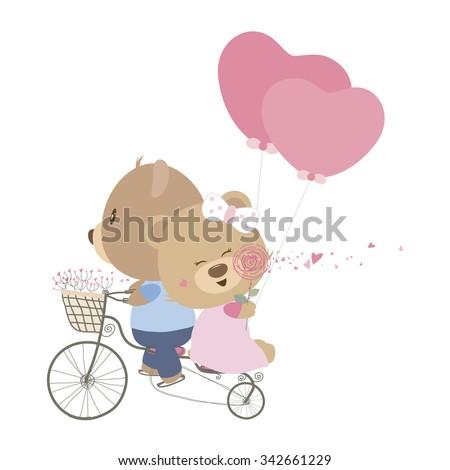 愛 私に テディベア ベクトル 中心 にログイン ストックフォト © robuart