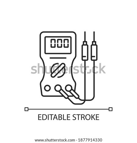 ammeter icon vector outline illustration Stock photo © pikepicture