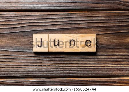 June Concept Vintage Wooden Letterpress Type Word Stock photo © enterlinedesign